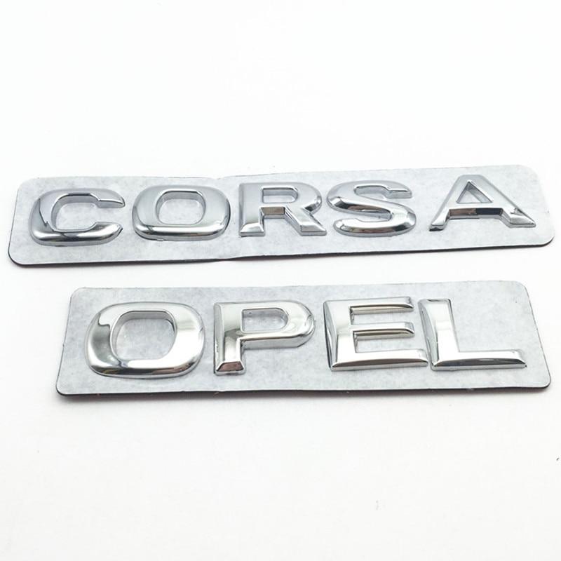 Vauxhall Opel Astra Corsa Insignia Meriva se insignia emblema de plástico ABS de cromo