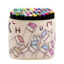 30/40/60/80 conjunto de cores profissional esboço marcador de cor caneta arquitetura álcool baseado marcadores de arte marcador de manga para desenho