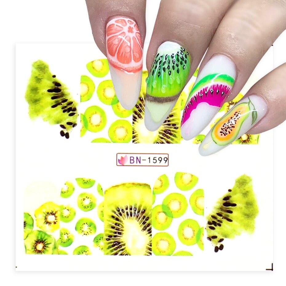 Spider Air Desain Nail Art Stiker Buah Dengan Garis Garis Transfer Stiker Kiwi Lemon Alpukat Manikur Slider Bebn1597 1608 1 Stiker Stiker Aliexpress