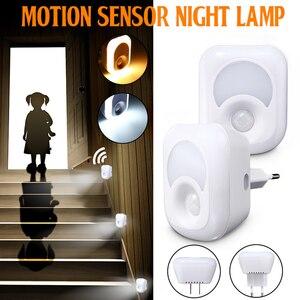 Image 5 - LED לילה אור עם חיישן תנועת PIR אדם אינפרא אדום הופעל אור חיישן קיר חירום מנורת התוספת מנורת קיר עבור שינה