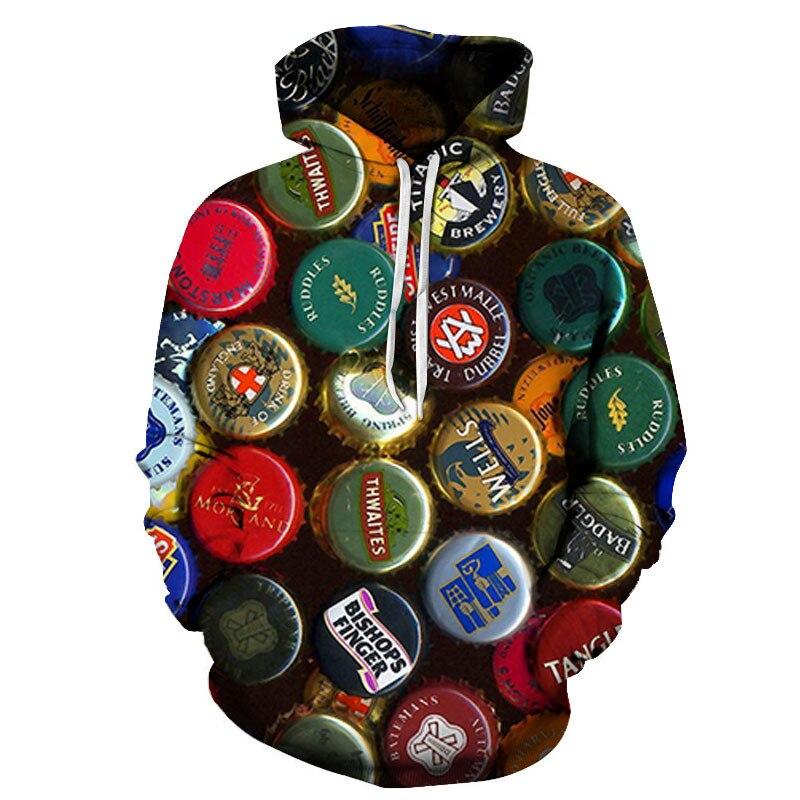 3D Printing Hoodie Mens Fashion Personality Street Men And Women Autumn Winter Sweatshirt Jacket