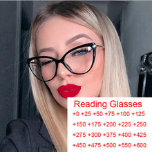 Gafas con marco para presbicia con bloqueo de luz azul para mujer, gafas de lectura tipo Ojo de gato, ordenador con dioptría + 2 + 2020 + 5, 2,5