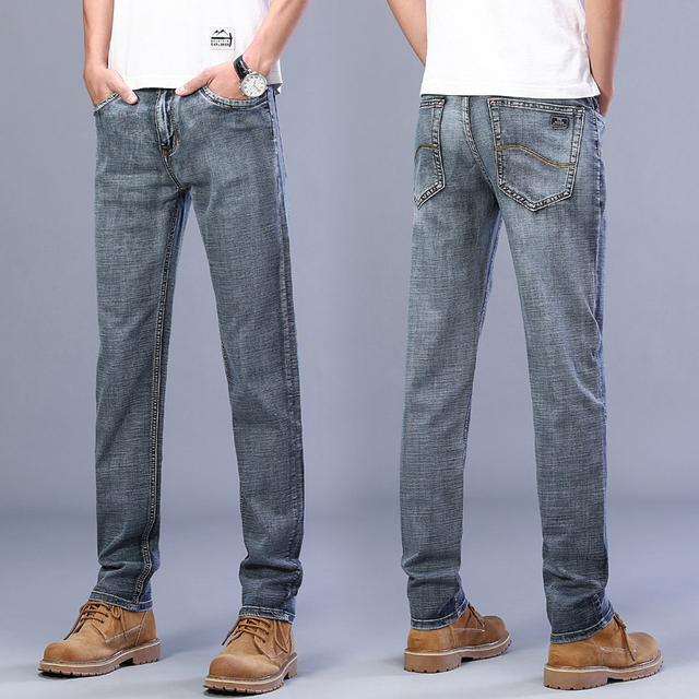 Classic Style Business Casual Advanced Stretch Regular Fit Denim  4