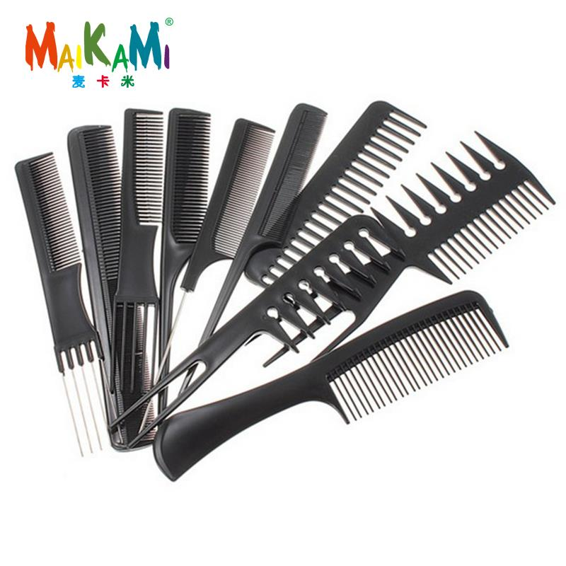 10 Style Anti-static Hairdressing Combs Tangled Straight Hair Brushes Girls Ponytail Comb Pro Salon Hair Care Styling Tool
