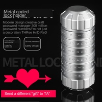 Metal combination lock cylindrical tube. Chinese Valentine's Day Valentine's Day couple souvenir, birthday present