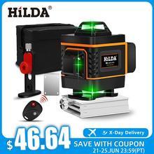 HILDA 3D/4D Laser Level level Selbst Nivellierung 360 Horizontale Und Vertikale Kreuz Super Leistungsstarke Green Laser Level