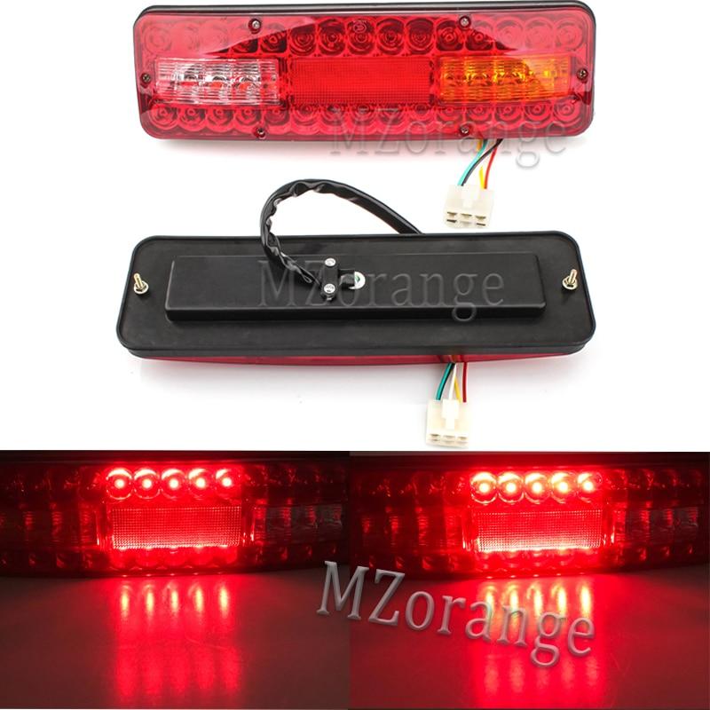 MZORANGE 12V 20 LED Rear Tail Lights Reverse Lamp Stop Brake Trailer Taillight Caravan Truck Lorry