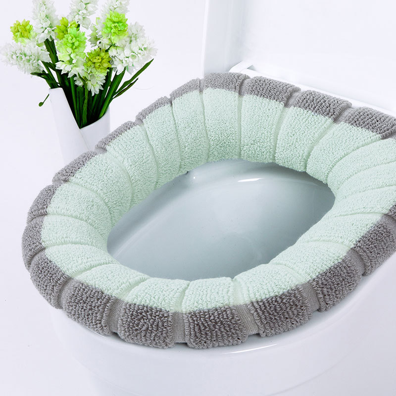 Bathroom Toilet Seat Closestool Washable Soft Warmer Mat Pad Cushion wc