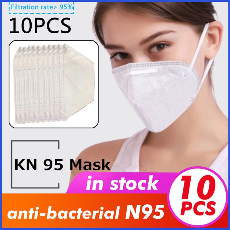 CC KN95 Mask Face Masks Disposable Anti Virus 3 Layers Non Woven Earloops Maske Safe Fast Delivery In Stock FDA CE Certificate