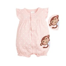 Infant Newborn Baby Girl Romper cute Short Sleeve Cotton Baby Animal Cartoon O-Neck One-Piece Jumpsuit Clothes Summer 3-18M baby short sleeve one piece dress baby romper newborn infant cotton romper boy girl animal printed jumpsuit kids clothes outfit