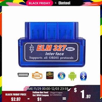 ELM327 V2.1 Bluetooth OBD OBD2 lecteur de Code CAN-BUS prend en charge les voitures multi-marque multi-langue ELM 327 BT V2.1 fonctionne Android/PC C