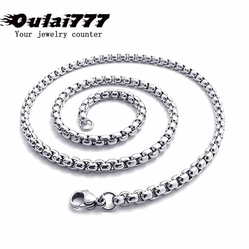 2019 stainless steel hip hop chain men's necklace  jewelry gifts for men male women gold accessories neckless jewellery chains