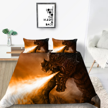 Dragon Bedding Set Single Fashionable 3D Soft Cool