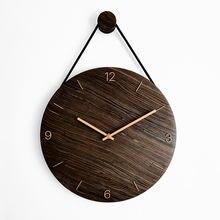 Креативные большие деревянные настенные часы вешалки скандинавские