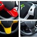 Для Tesla Model 3 интегрированный стежок на рулевом колесе  накладка  наклейка  4 цвета