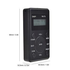 Image 2 - HRD راديو FM محمول 100 DAB ، مستقبل FM مع سماعات أذن ، جهاز إرسال رقمي صغير قابل لإعادة الشحن ، للاستخدام اليومي والسفر