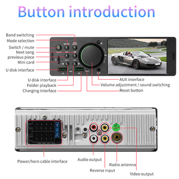 4-Inch Car Video MP5 Player 854*480 Touch Screen Remote Control Autoradio Bluetooth FM SD for Vehicle image