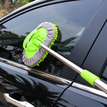 Car Cleaning Brush Telescoping Long Handle Auto Accessories Car Wash Brush Cleaning Mop Chenille Broom