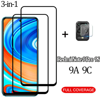 Перейти на Алиэкспресс и купить 3-в-1 9 A 9S защитное стекло на редми 9a нот 9s 9 про стекло Xiaomi Redmi Note 9S стекло Экран протектор 9c note 9 redmi note 9 pro kамера стекло редми ноте 9s очки Redmi 9A ...