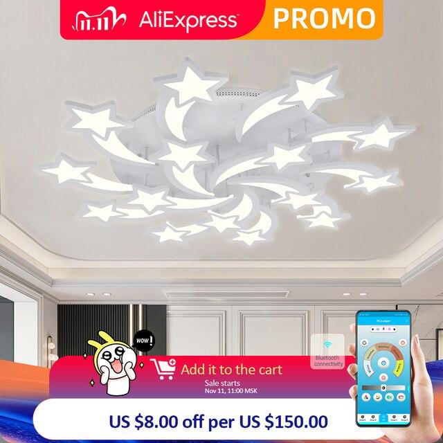 IRALAN LEDs lustre étoiles modernes pour salon chambre à distance/APP support maison design lustre modèle ICFW1913