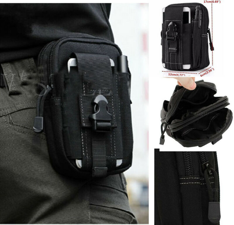 2019 Newest Hot Man Tactical Pouch Black Hunting Bags Belt Waist Bag Military Fanny Pack Outdoor Pouches Phone Case Pocket