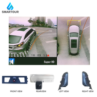Smartour 3D HD 360 Car Surround View Monitoring System Bird View System 4 Camera DVR HD 1080P Recorder for Lexus