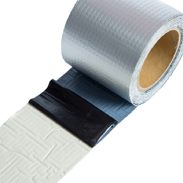 New Aluminum Foil Butyl Rubber Tape Self-adhesive Waterproof Aluminum Foil Butyl Rubber Tape Roof Hose Marine Maintenance