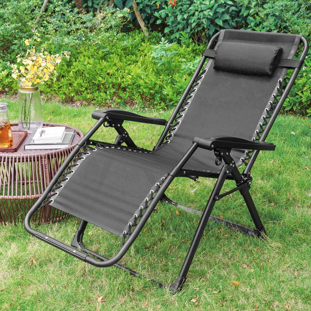 Furgle 2pcs Zero Gravity Chair Lounge Recliner Chair Outdoor With Phone And Cup Holder Trays For Patio Beach Lawn Camping Pool