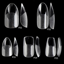 504PCS False Nails Acrylic Nail Tips Gel Nail Tips Clear Nail Art Matte Underneath Fake Tips  Coffin Stiletto Press On Nails