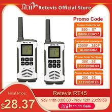 Retevis RT45 2 Stuks Draagbare Walkie Talkie 0.5W Pmr PMR446 Frs Vox Handige Twee Manier Radio Emergency Familie Gebruik voor Motorola Tlkr T50