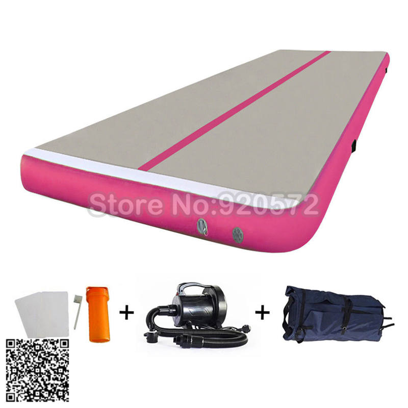 Free Shipping 5m Pink Inflatable Cheap Gymnastics Mattress Gym Tumble Airtrack Floor Tumbling Air Track For Sale