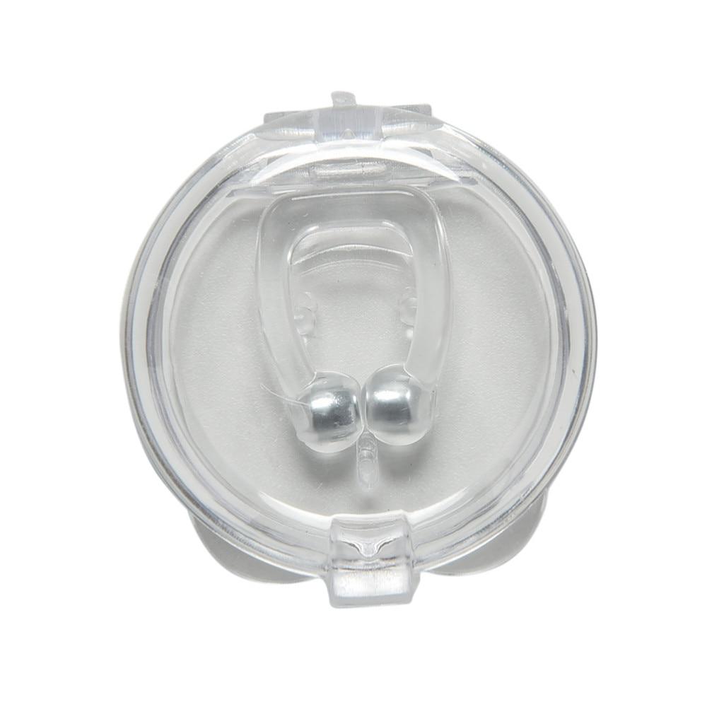 5pcs/lot Hot Selling Anti Snoring Silicone Nose Clip Magnetic Stop Snoring Nose Clips Anti-Snoring Apnea Sleeping Aid Device 2