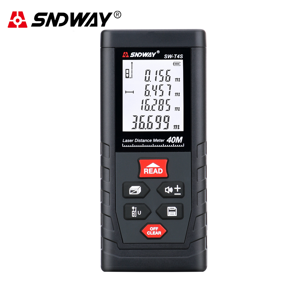 SNDWAY Laser Distance Meter Measure Distance Range 40m T4S T Series Laser Roulette Laser Rangefinder For Hunting Finder Ruler