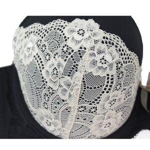 Image 5 - Xiaoersidai negro Sujetador de encaje para mujer, Bralette cómodo, de alta calidad, de belleza, 36 a 46 C D DD DDD F