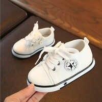 Детская парусиновая обувь в классическом стиле, уличные первые ходунки, детская обувь, кроссовки для малышей, унисекс, обувь для мальчиков и...