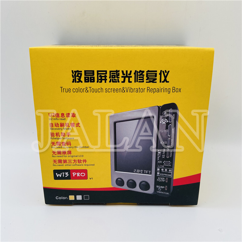 W13 Pro Ip 11/11pro/11pro Max/X/XS/XR/XSMAX/7/7P/8/8P Light Sensor Programmer Box Support Screen True Tone Display Repair Tool