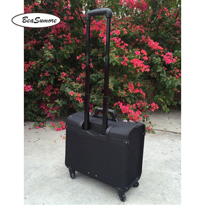 Image 3 - BeaSumore high quality Oxford captain Rolling Luggage Spinner Multifunction 18 Inch Laptop bag Men Women pilot Suitcase Wheels
