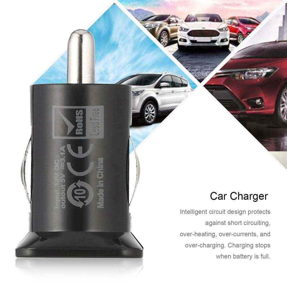 2 Port Mini Pocket Size Universal Dual USB Car Charger Adapter Bullet 5V 2.1A + 1A Car Charger For Mobile Phones Tablet PC