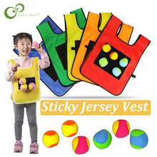 Vest Game-Props Sticky-Balls Sports-Toys Kids Outdoor Throwing Children Waistcoat Jersey