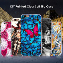 Diy pintado macio tpu silicone caso para iphone 6 6s 7 8 plus iphone x xr xs max presente escudo gato cão flor cenário personagem capa(China)