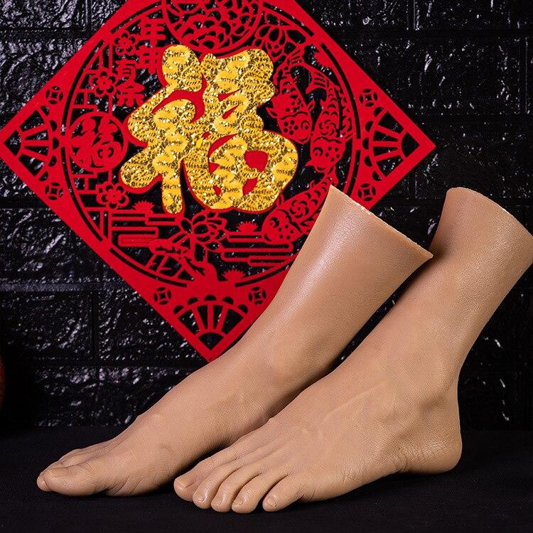 Simulation mâle pied modèle réel inversé pied modèle tir affichage accessoires peinture médicale enseignement grande taille mâle pieds - 3