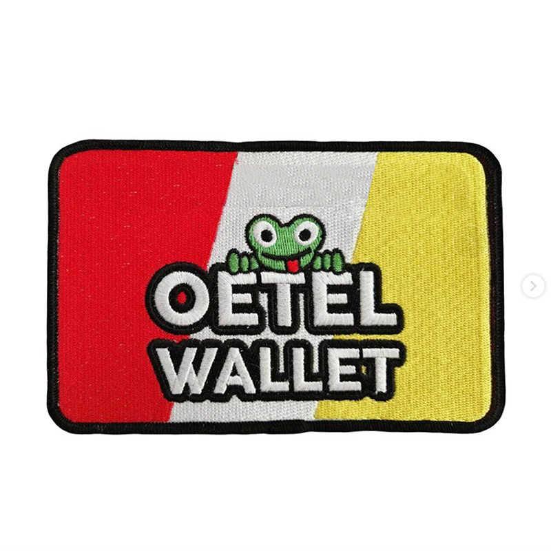 Oeteldonk emblemat całkowicie haftowana żaba karnawał dla holandii żelazko na plastry na ubrania w paski haftowane naszywki na sukienkę G