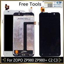 Do ZOPO ZP980 ZP980 + C2 C3 montaż wyświetlacza ekranu LCD z zespół ekranu dotykowego