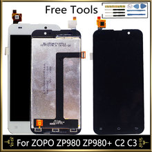עבור ZOPO ZP980 ZP980 + C2 C3 LCD תצוגת מסך עם מגע מסך הרכבה