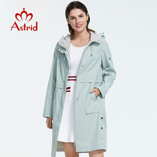 Astrid 2019 new arrival plus size mid-length style trench coat for women with a