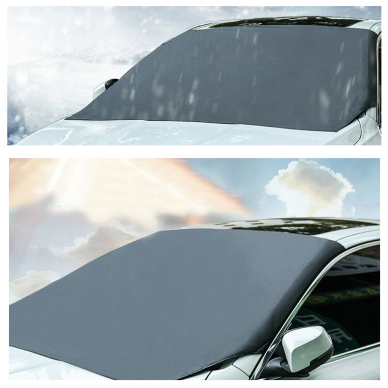 Car Windshield Snow /& Ice Cover Frost Guard Wiper Visor Protector Windproof Auto Sun Shade for Car Minivan and SUV