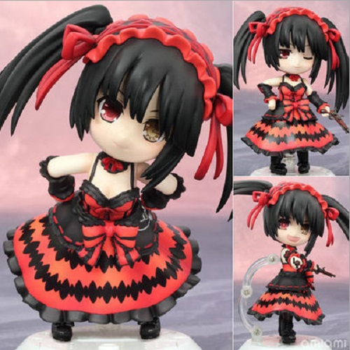 New Anime Date A Live Nightmare Nendroid 466 Tokisaki Kurumi Q Version PVC Action Figure Collectible Model Toys Brinquedos Doll