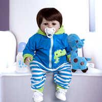 19 pollici Handmade Reborn Bambole In vinile del Silicone adorabile Realistico del bambino Del Bambino Bonecas bambino ragazzo bebes bambola reborn menina de silicone