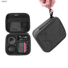 Durchführung Lagerung Tasche Tragbare Tasche Fall Stoßfest schutzhülle Gehäuse Für Insta360 EIN R Action Kamera Zubehör