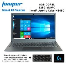 Новый джемпер EZbook Х3 премиум IPS для ноутбука дисплей для ноутбука тонкий металлический корпус Интел N3450 8 ГБ память eMMC 128 ГБ 2.4 Г/5 г WiFi на Win10